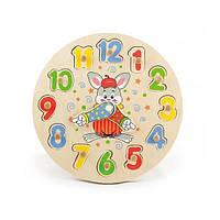 """Развивающая игрушка-пазл Viga Toys """"Часы"""" (56171), фото 1"""