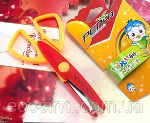 Ножницы  детские с фигурными лезвиями Цена за 1шт (сп7нг-1786)