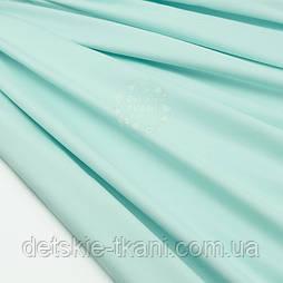 Сатин премиум, цвет насыщено-мятный, ширина 240 см (№2431)