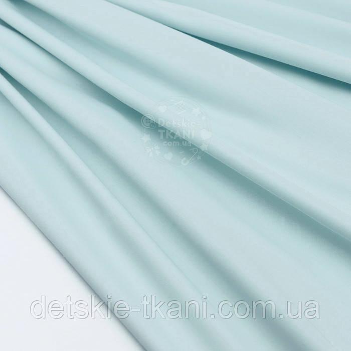 Сатин премиум, цвет бледно-мятный, ширина 240 см (№1076)