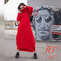 Платье-худи женское длинное (теплое) 571