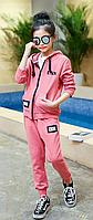 Спортивний костюм з капюшоном / Детские спортивные костюмы для девочек пальто с капюшоном и надписью