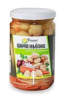 Шампіньйони Домашні продукти 314г мариновані закусочні цілі