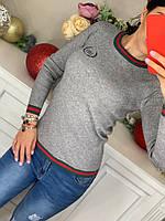 Трикотажный свитерок с брендовой вышивкой  Balenciaga( копия)