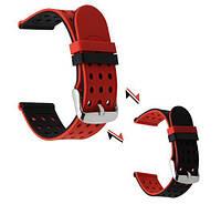 Двухсторонний ремешок с перфорацией для часовHuawei Watch GT / GT Active 46mm Black&Red, фото 1