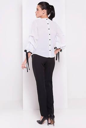 Женская роскошная блуза с объемными рукавами (S, M, L) белая, фото 2