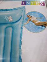Матрас надувной  голубой для моря
