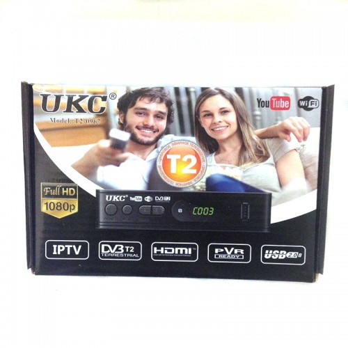 Цифровой тв тюнер приставка ресивер DVB T2 UKC 0967#100892