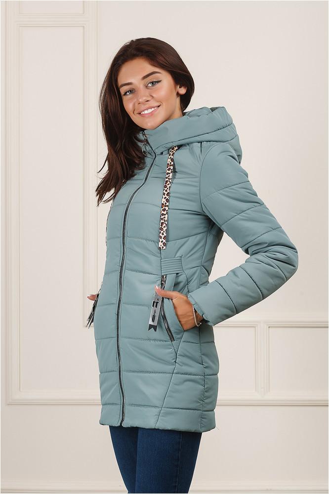 Женская демисезонная  куртка Енни бледно - голубая