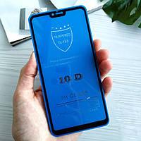 Защитное стекло 10D на Xiaomi Mi8 Lite (Full Glue) Черное