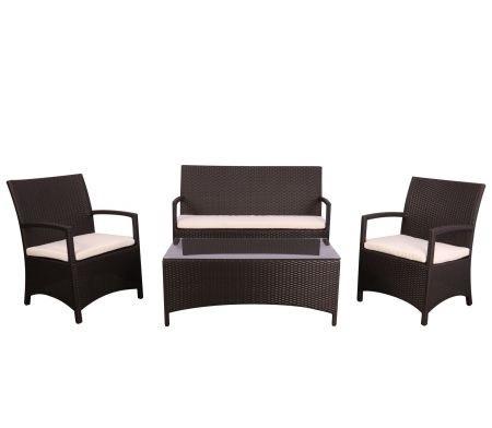 Комплект меблів Bavaro з ротанга Elit (SC-A7428) Brown MB1034 тканина A13815 (AMF-ТМ)