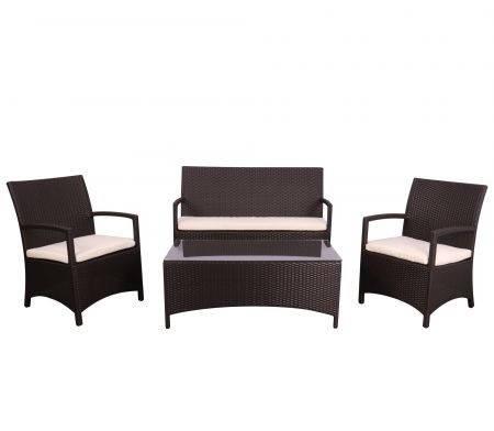 Комплект меблів Bavaro з ротанга Elit (SC-A7428) Brown MB1034 тканина A13815 (AMF-ТМ), фото 2