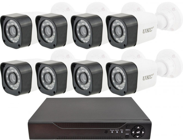 Комплект видеонаблюдения UKC D001-8CH Full HD набор на 8 камер 5690