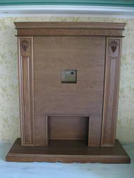 Стенка в гостиную тумба ТВ  с порталом под камин, свечи, зеркало