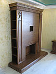 Стенка в гостиную тумба ТВ  с порталом под камин, свечи, зеркало, фото 2