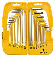 Набор ключей шестигранних TOPEX 18 шт 35D953