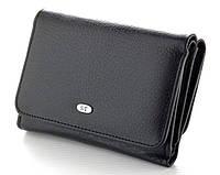 Жіночий шкіряний гаманець (4031) чорний, фото 1