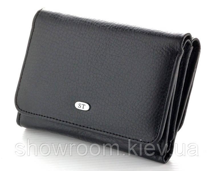 Жіночий шкіряний гаманець (4031) чорний
