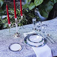 Посуда Capital For People пластиковая многоразовая плотная для пикника. Полная сервировка стола 96 шт 6 чел, фото 1