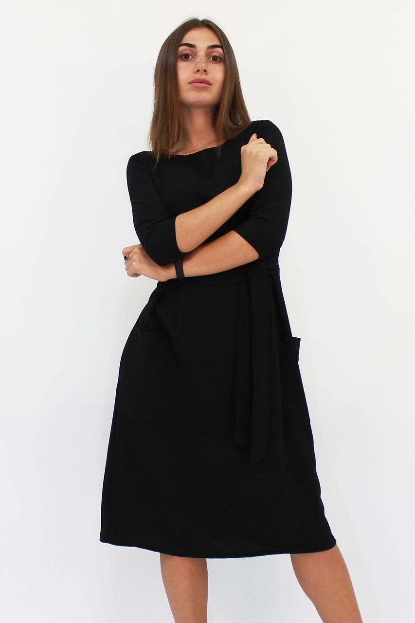 S, M, L, XL | Класичне жіноче плаття-міді Tirend, чорний