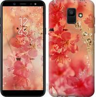 Чехол Endorphone на Samsung Galaxy A6 2018 Розовые цветы 2461c-1480-18675 (2461-1480)