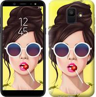 Чехол Endorphone на Samsung Galaxy A6 2018 Девушка с чупа-чупсом 3979c-1480-18675 (3979-1480)