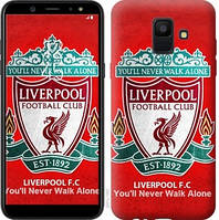 Чехол Endorphone на Samsung Galaxy A6 2018 Ливерпуль 2561c-1480-18675 (2561-1480)