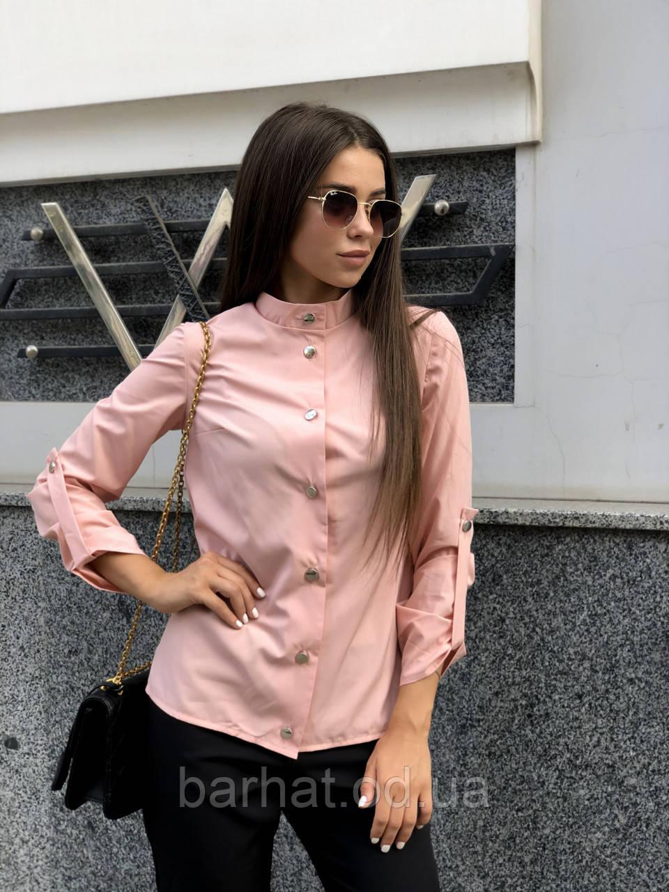 Блуза женская розовая 42-44, 46-48 р.