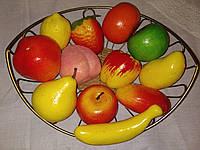 Муляжи фруктов натуральной величины. Набор 12 шт.