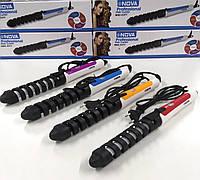 Спиральная плойка для завивки волос Nova 5377, стайлер для волос, Плойки для волос, Плойка спиральная, Плойки для волосся  , фото 1
