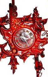 Настенные часы из кожи Абстракция