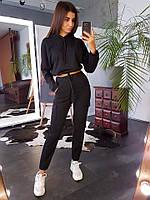 Женский спортивный костюм Карго весна-осень (S/M, M/L) (цвет черный) СП