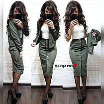 Костюм пиджак+юбка карандаш, размеры S.M, фото 2