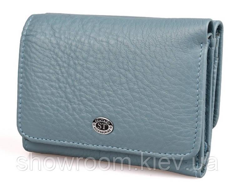 Жіночий шкіряний гаманець (4031) голубий