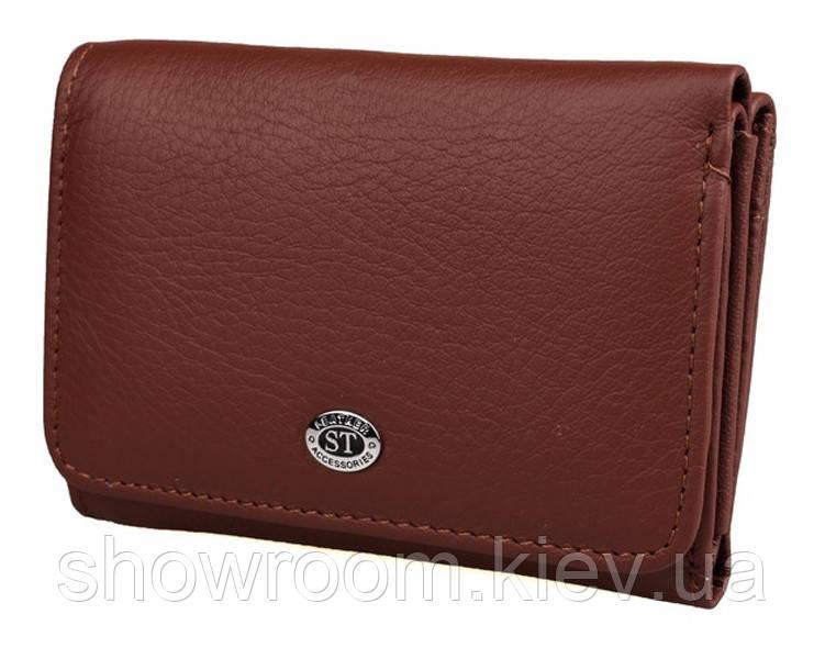 Жіночий шкіряний гаманець (4031) бордовий