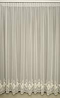 Гардины лён Турция готовые на окна цвет белая / молочная ( обработка сторон + 40 грн.), фото 1