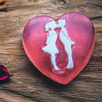 Мыло ручной работы Поцелуй для влюбленных, сердце
