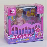 Кукла с кроваткой Cute Girl 899-27: кроватка в комплекте