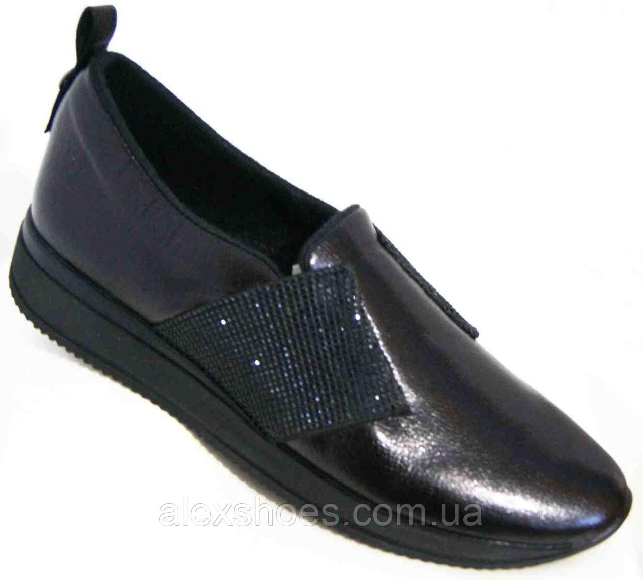 Туфли женские большого размера из натуральной кожи от производителя модель В5236-4К
