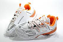 Женские кроссовки в стиле Balenciaga Track, White\Orange, фото 2