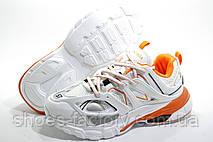 Женские кроссовки в стиле Balenciaga Track, White\Orange, фото 3