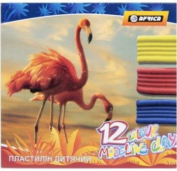 """Пластилин """"Africa"""" 12 цветов, 240 г, картон, Economix"""