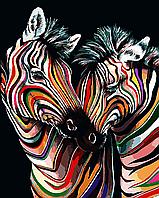 """Набор алмазной вышивки (мозаики) """"Радужные зебры"""""""
