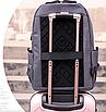 Рюкзак міський DZ Чорний з usb виходом, фото 5
