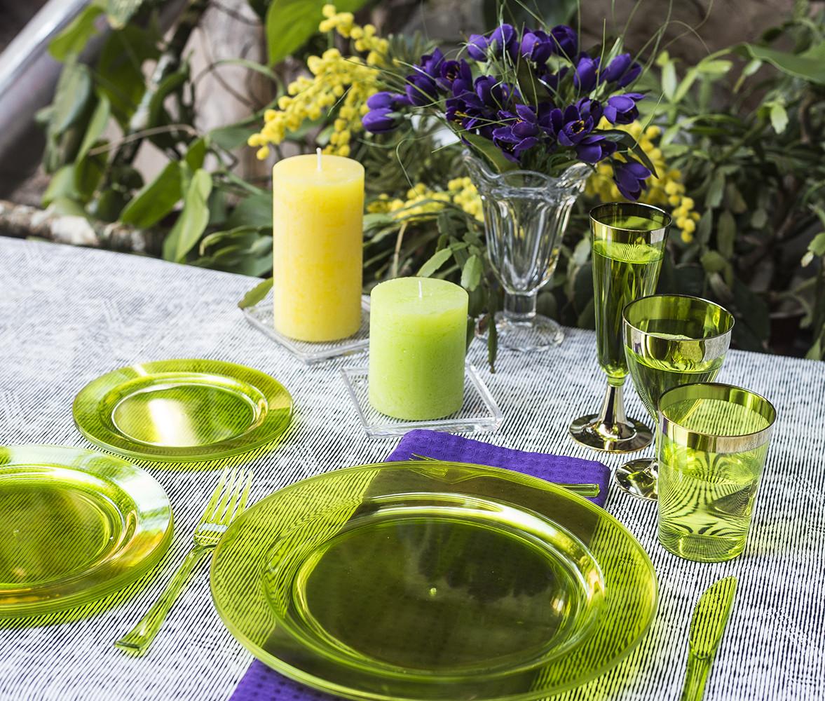 Посуда Capital For People пластиковая многоразовая плотная для презентаци. Полная сервировка стола 84 шт 6 чел
