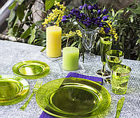 Посуда Capital For People пластиковая многоразовая плотная для презентаци. Полная сервировка стола 84 шт 6 чел, фото 1