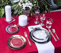 Посуда Capital For People пластиковая многоразовая плотная для торжеств. Полная сервировка стола 102 шт 6 чел, фото 1