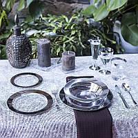 Посуда пластиковая многоразовая опт дляресторанов, horeca, кейтеринга прозрачная с серебром CFP 102 шт 6 пер, фото 1