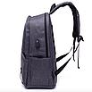 Рюкзак городской Dz Серый с usb выходом, фото 4