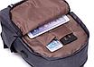 Рюкзак городской Dz Серый с usb выходом, фото 8